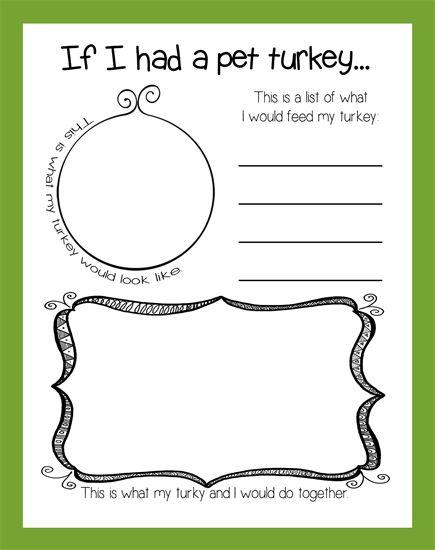 If I Had A Pet Turkey... | Thanksgiving Activity & Bulletin Board Idea for preschool, kindergarten, and elementary grades.: