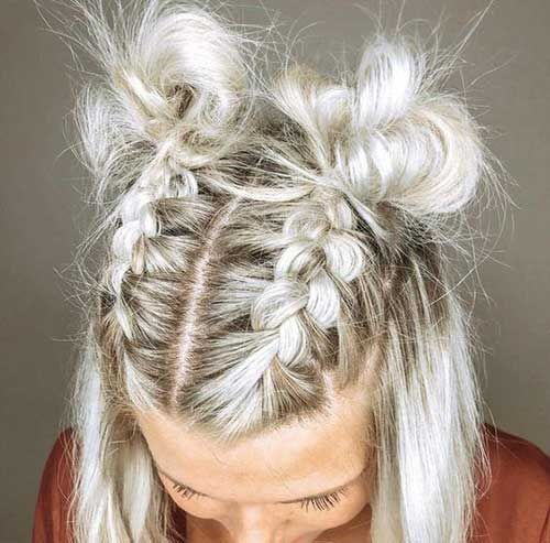 11 Easy Braided Hairstyle For Short Hair Coiffure Courte Coiffure Jolie Coiffure