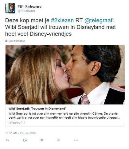 Plaatje: #2xlezen mediawijsheid taal Soerjadi-trouwt-met-Disneyfiguurtjes