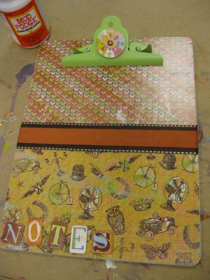 Decorate a clipboard - makes a great gift. ~ Mod Podge Rocks!  From Michael's