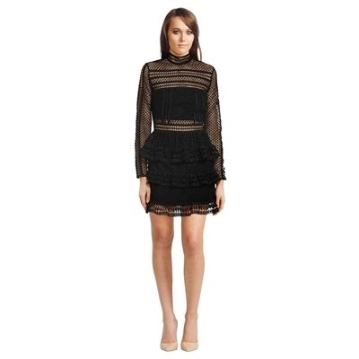 Have a look at this  Self Portrait - Tiered Guipure Lace Mini Dress http://www.wasandnow.com/shop/fashion-2/self-portrait-tiered-guipure-lace-mini-dress/ #ApparelAccessories, #Clothing, #Dress, #Dresses, #Fashion, #GlamCorner, #Guipure, #Lace, #Mini, #Portrait, #Self, #Tiered Was And Now – This mini dress by Self Portrait features beautiful placement lace all over with a Victorian-inspired neckline. It is partially lined to allow the lace to contrast strikingly against