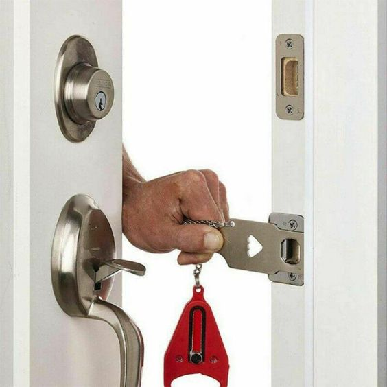 Staying In A Hotel And Feeling Unsafe Locks Are Broken All These Worries Can Be Put To Bed With The Portable Hotel Door Locks Hotel Door Door Lock Security