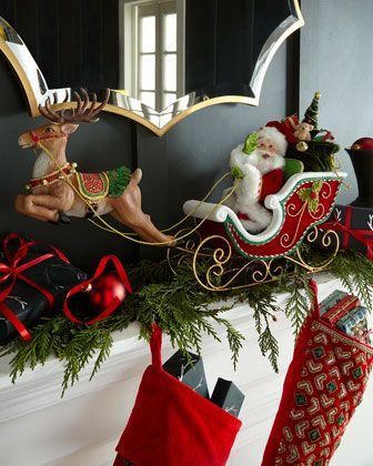 Katherines Collection Santas Sleigh Reindeer Tabletop Decor Reindeer Decorations Christmas Decorations Santa Sleigh