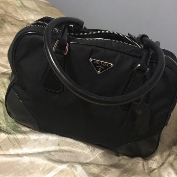 prada nylon small zip-top hobo bag