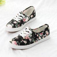 2014 primavera nuevo color del encanto floral boca baja para ayudar a los zapatos bajos de los zapatos de lona de moda casual coreano estudiante zapatos de marea