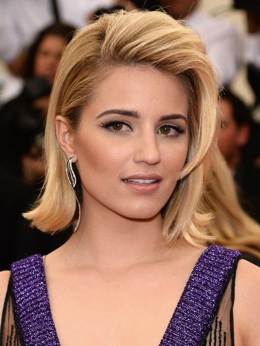 Flip Hairstyle : hairstyle, Dianna, Agron, Hairstyle, Medium, Length, Styles,, Flip,, Lengths
