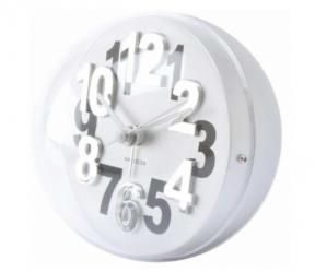Relógio Branco Relevo