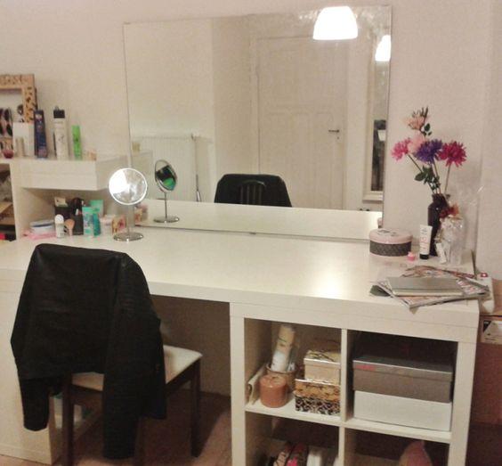 diy schminktisch schminktische selber machen und tische. Black Bedroom Furniture Sets. Home Design Ideas
