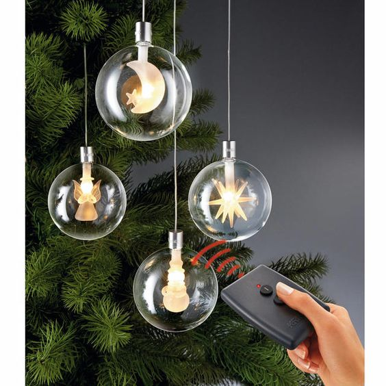 Wireless Led Christmas Tree Baubles Remote Control