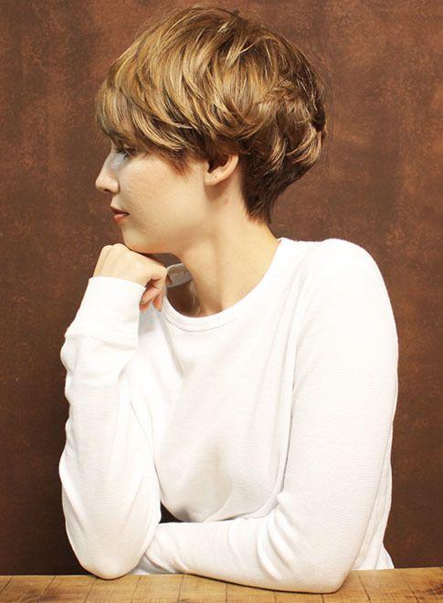 外国人風クラシックマニッシュショート 髪型ショートヘア ショート