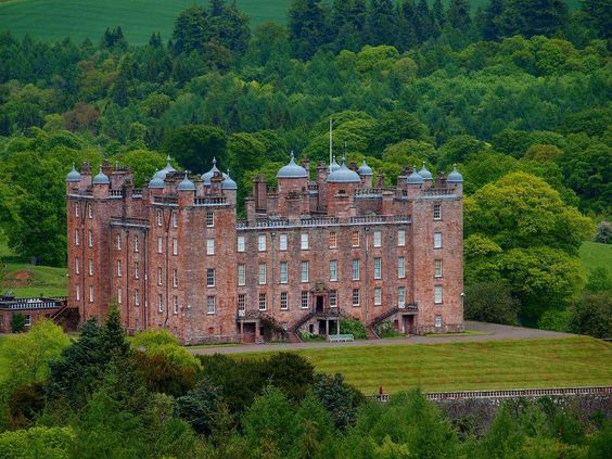Drumlanrig Castle, Dumfries and Galloway, a category A listed castle is the Dumfriesshire home of the Duke and Duchess of Buccleuch and Queensberry. The 'Pink Palace', constructed between 1679 and 1689 from distinctive pink sandstone, is an example of late 17th century Renaissance architecture. The first Duke of Queensberry, William Douglas, had the castle built on the site of an ancient Douglas stronghold overlooking Nith Valley. The castle has 120 rooms, 17 turrets and 4 towers.