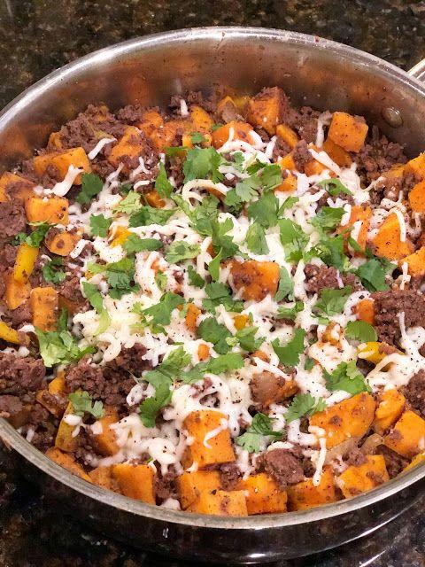 Ground Venison Sweet Potato Skillet Life As A Wife Venison Recipes Ground Venison Recipes Deer Meat Recipes