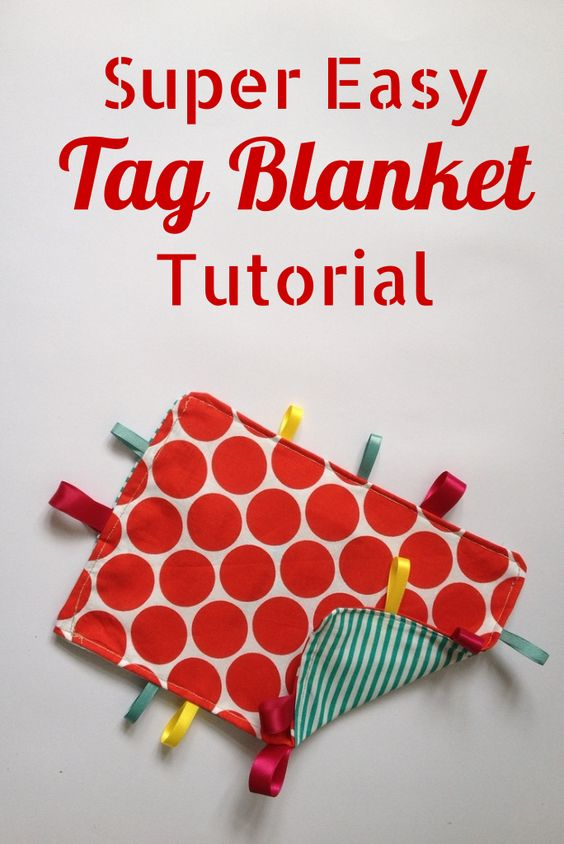 How to make a tag blanket, an easy step by step tutorial with lots of pictures to help you make this cute homemade gift for a baby  Crafts on Sea