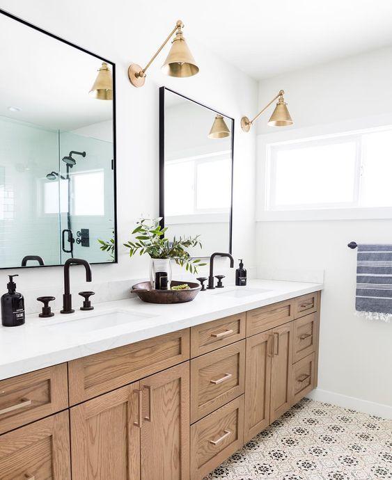 26+ Wood and black vanity light ideas