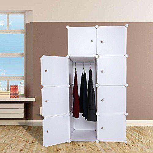 Portable Clothes Closet Wardrobe Combination Cube Armoire Cabinet Storage Organizer With Doors Diy Bedroom Boo Locker Storage Wardrobe Closet Storage Cabinets