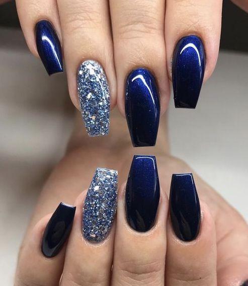 That Dark Blue Nail Polish Looks Amazing Dark Blue Nails Blue Glitter Nails Blue Acrylic Nails,New York Institute Of Art And Design Login