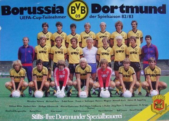 Mannschaftsfoto 82 83 Mannschaftsfotos Bvb Dortmund Bvb