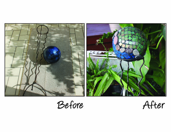Salvation Army Repurposing Contest | Plant Stand and Bowling Ball to Earth Day-Inspired Garden Art