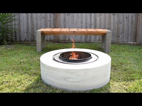 4 Making A Concrete Fire Pit From A Washing Machine Drum