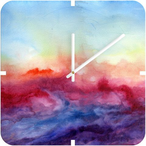 Watercolor clock. I really like this, but it is kinda pricey. I am thinking I could DIY this which would be even more fun.