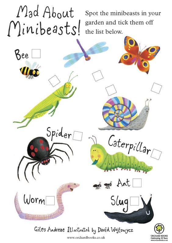 minibeasts spotter checklist printable children - Bing Images