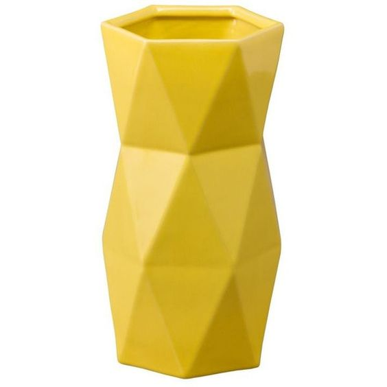 emissary matrix vase yellow by found on polyvore featuring home home decor vases