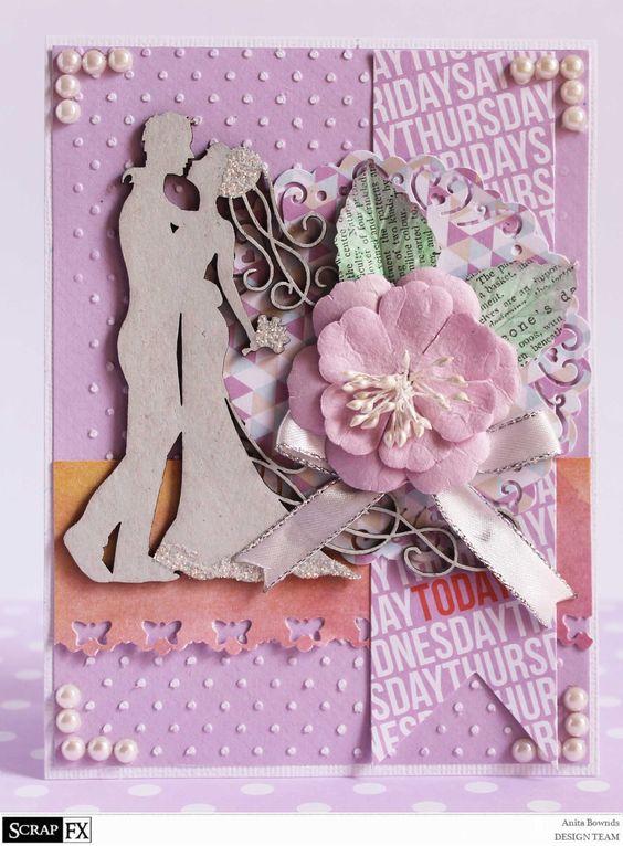 Romantic card by Anita Bownds #studiocalico - lemon lush Romantic Silhouette Model: 2014041