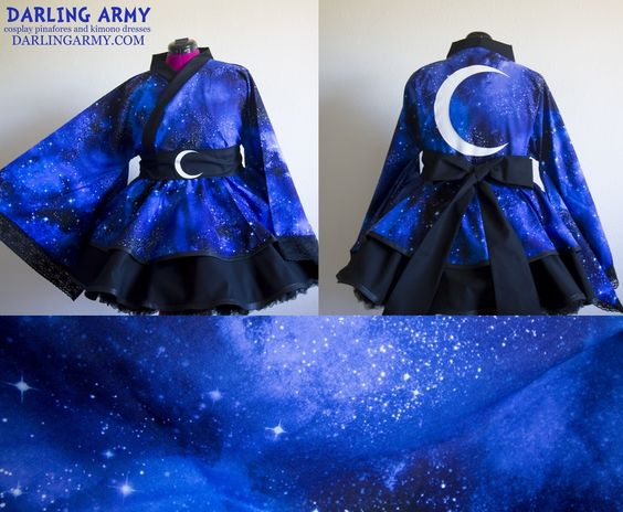 Space Galaxy Cosplay Kimono Dress Wa Lolita Accessory   Darling Army