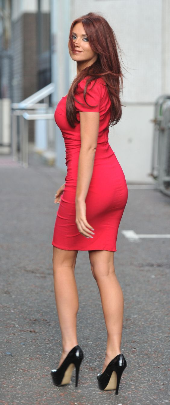 Red Dress High Heels
