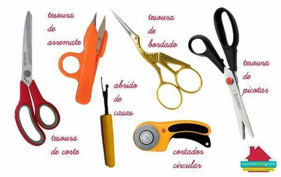 Tesouras importantes para costura doméstica
