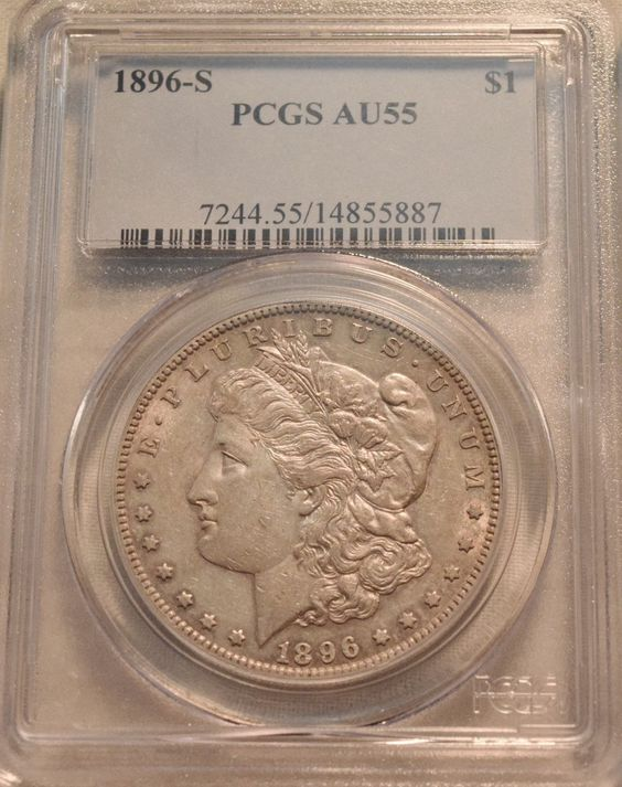1896 S $1 PCGS AU 55 Morgan Silver Dollar Scarce Date Semi-Key Problem Free https://t.co/9TnPhoZw0Y https://t.co/TCyMOnIr2h