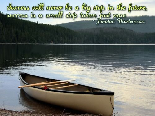 #Success will never be a big step in the future, #success is a small step taken just now..