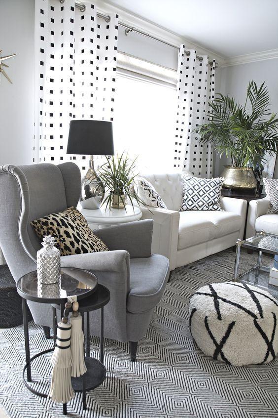Silver Pineapple In White Tea Mint In 2020 Monochrome Living Room Eclectic Living Room White Living Room Decor #silver #and #white #living #room #decor