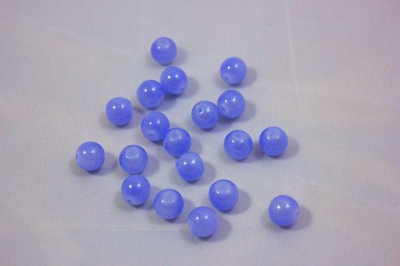 Cuentas de cristal - Bolas lila 8 mm.