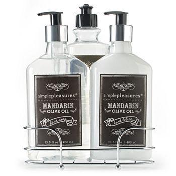Simple Pleasures Mandarin Olive Oil Kitchen Caddy Gift Set #Kohls #MothersDay