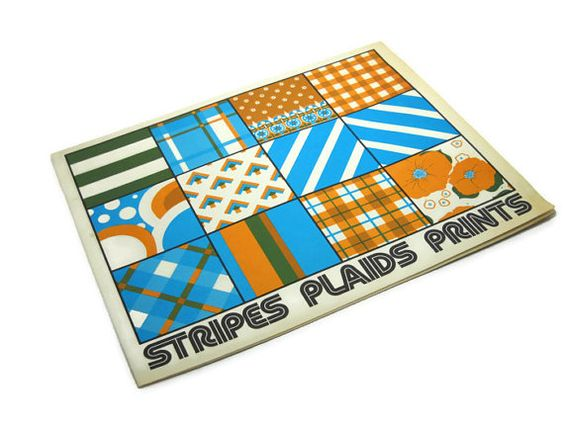 Vintage 1970s Stripes Plaids Prints Sewing Booklet American Thread 1974