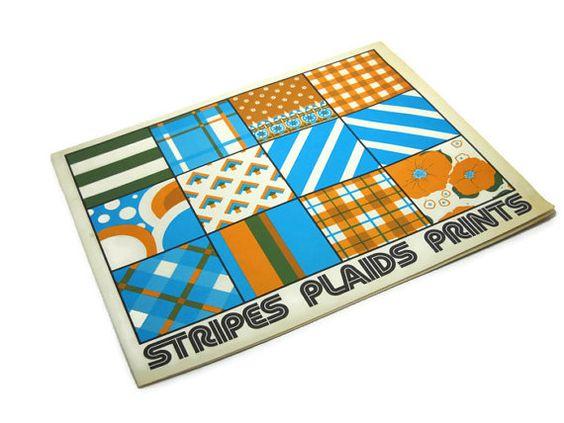 Vintage 1970s Stripes Plaids Prints Sewing Booklet American Thread 1974