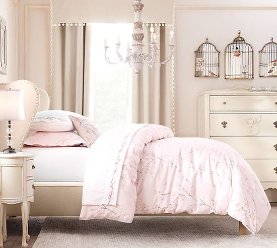 Bedroom Colors For Girls Room Bedroom Wall Paint Color Ideas Shabby Chic Bedroom Sets Baby Bedroom Design Ideas: Colour - Pretty, Pastel, Soft