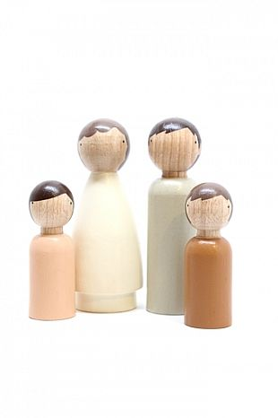 wooden peg dolls  The Family By Nature : Norman and Jules