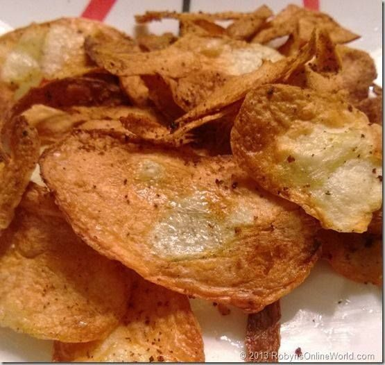 AIR FRIED CHIPS 1.Wash and peel the potatoes. 2.Slice them thinly.  3.Place in a large pot of cold water to soak for a few minutes. 4.Pop the duck fat in the Berg Air Fryer and heat for 2 minutes.  5.Drain the potato slices well; then pat dry in tea towel, or swirl in a salad spinner. 6.Add to the Air fry tray and spread them out. 7.Cook for 40 to 50 minutes, at 10 minute intervals. www.fralli.com