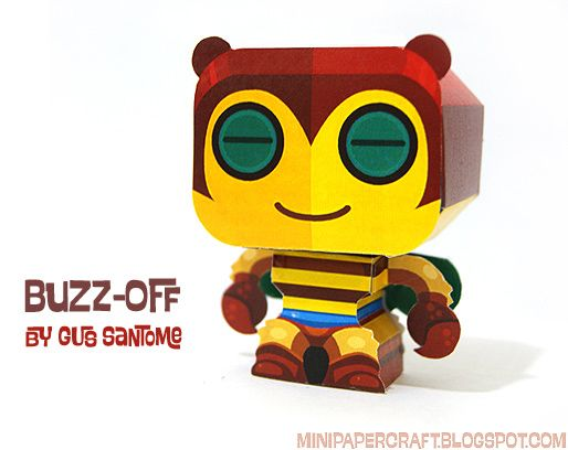 Paper Crafting Toys, Mini Papercraft: Buzz - Off