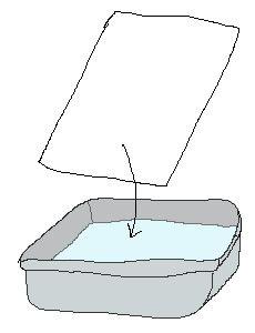 Feutre sur encre :  Tremper feuille dans eau + gouttes d'encre. Séchage à plat puis feutres