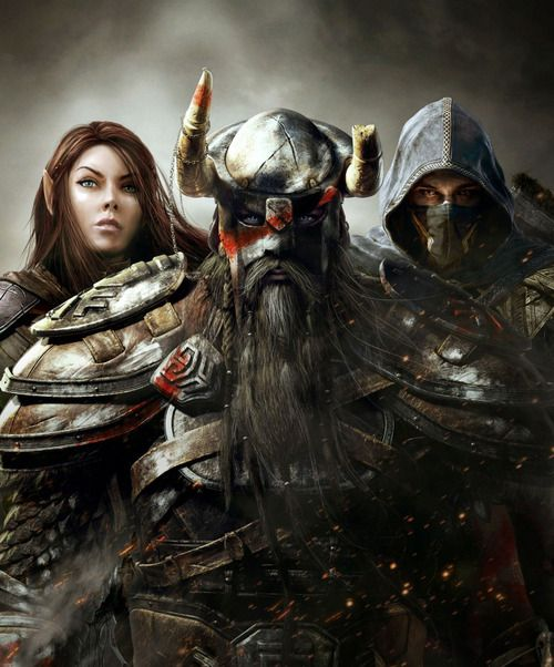 The Elder Scrolls Online characters - Aeling, Nord and Breton