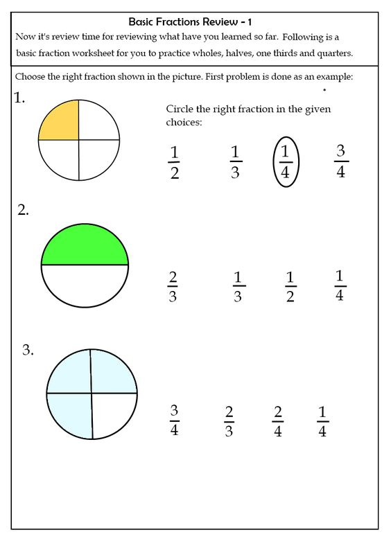 1000 Images About Math On Pinterest Fractions Worksheets Place ...
