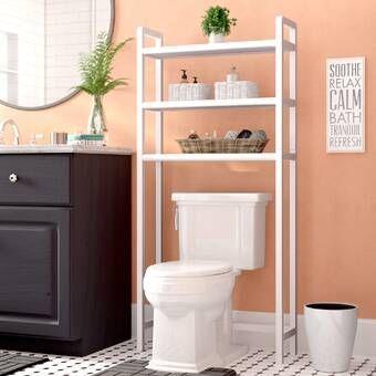 Zipcode Design Hoschton Ladder Spacesaver 24 9 W X 61 5 H Over The Toilet Storage Reviews Wayfair Toilet Storage Bathroom Storage Small Bathroom