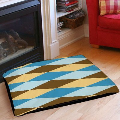 Manual Woodworkers & Weavers Bold in Blue Argyle Indoor/Outdoor Pet Bed Size: