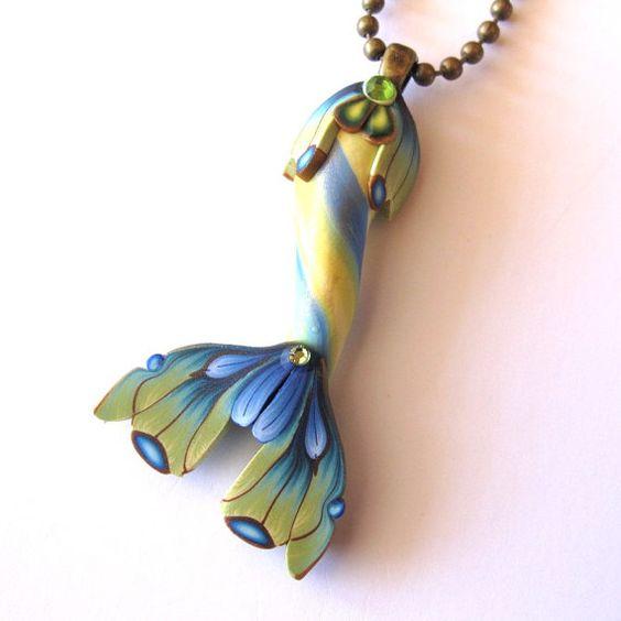 Meerjungfrauenflosse in türkis blau von Claybykim