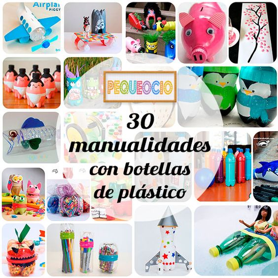 30 manualidades recicladas con botellas DIY y manualidades
