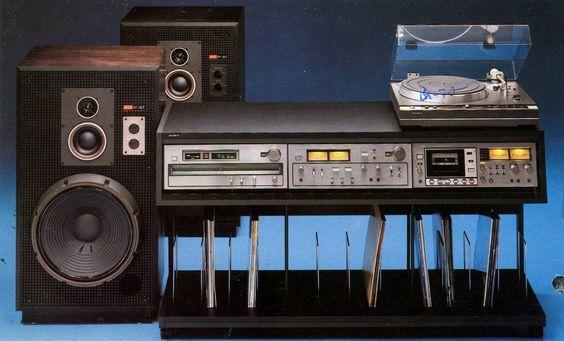 Vintage Sony setup with Sony PS-X60 Sony SS-G7 Sony ST-A7B Sony TA-F7B