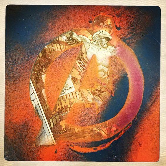 # Ironman #avengers #spraypaint #superiorironman #wheatpaste #graffiti #wallart